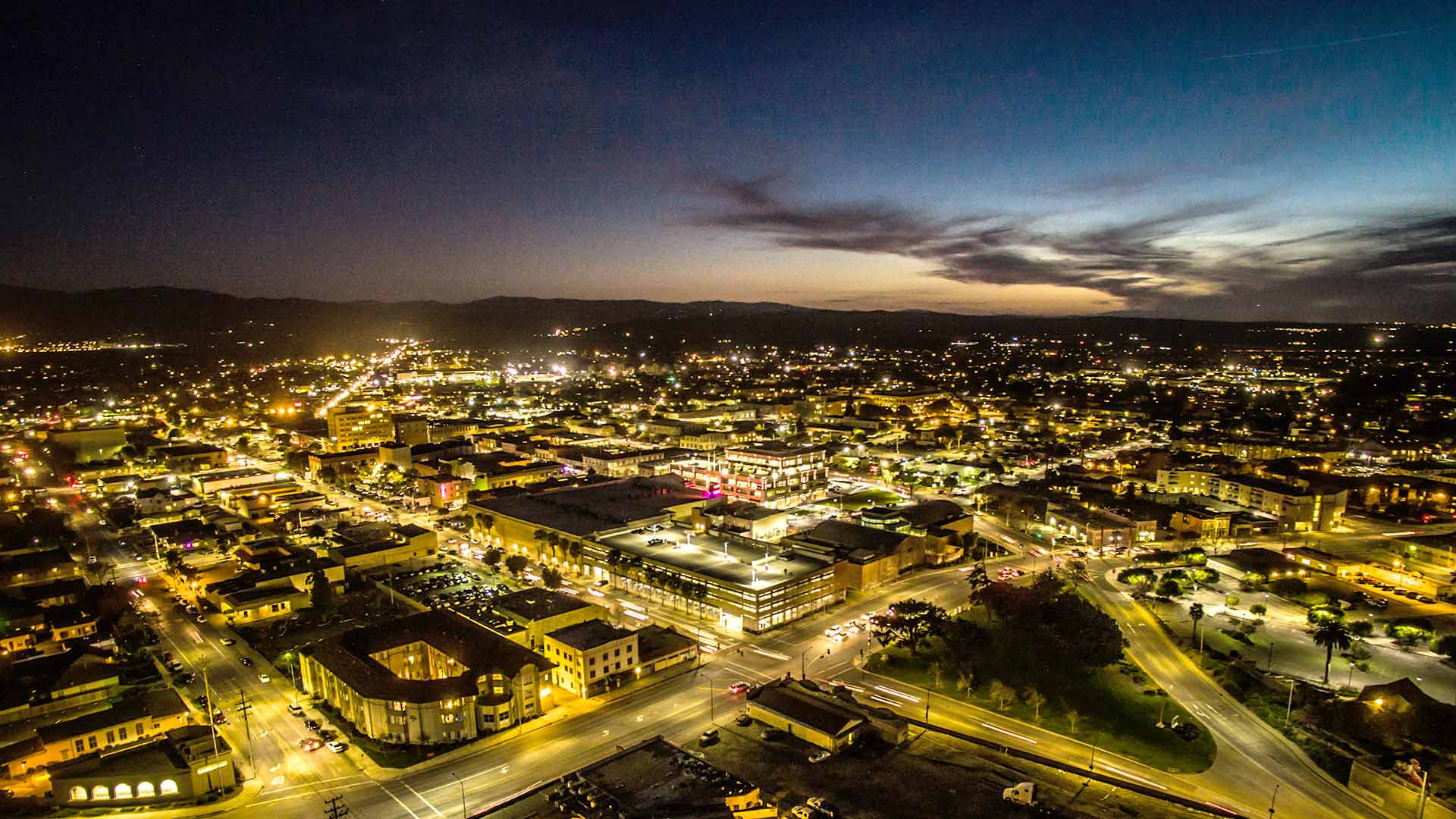 Salinas City Center Aerial Shot